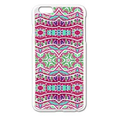 Colorful Seamless Background With Floral Elements Apple Iphone 6 Plus/6s Plus Enamel White Case by Simbadda