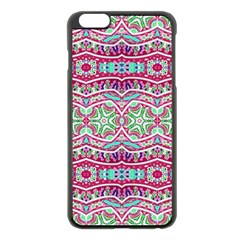 Colorful Seamless Background With Floral Elements Apple Iphone 6 Plus/6s Plus Black Enamel Case by Simbadda