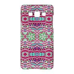 Colorful Seamless Background With Floral Elements Samsung Galaxy A5 Hardshell Case  by Simbadda