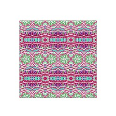 Colorful Seamless Background With Floral Elements Satin Bandana Scarf by Simbadda
