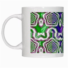 Digital Patterned Ornament Computer Graphic White Mugs by Simbadda