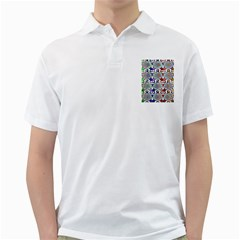 Digital Patterned Ornament Computer Graphic Golf Shirts by Simbadda