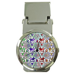 Digital Patterned Ornament Computer Graphic Money Clip Watches by Simbadda