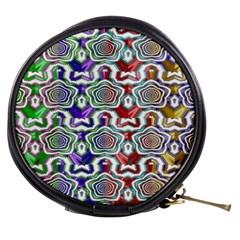 Digital Patterned Ornament Computer Graphic Mini Makeup Bags by Simbadda