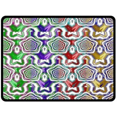 Digital Patterned Ornament Computer Graphic Fleece Blanket (large)  by Simbadda