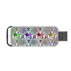 Digital Patterned Ornament Computer Graphic Portable Usb Flash (two Sides) by Simbadda