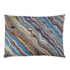 Fractal Waves Background Wallpaper Pattern Pillow Case (two Sides) by Simbadda