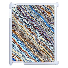 Fractal Waves Background Wallpaper Pattern Apple Ipad 2 Case (white) by Simbadda