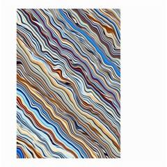 Fractal Waves Background Wallpaper Pattern Small Garden Flag (two Sides) by Simbadda