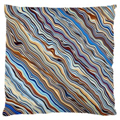 Fractal Waves Background Wallpaper Pattern Large Cushion Case (two Sides)