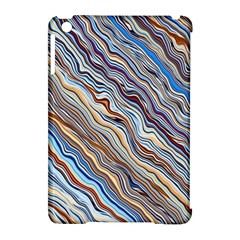 Fractal Waves Background Wallpaper Pattern Apple Ipad Mini Hardshell Case (compatible With Smart Cover) by Simbadda