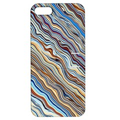Fractal Waves Background Wallpaper Pattern Apple Iphone 5 Hardshell Case With Stand by Simbadda