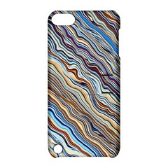 Fractal Waves Background Wallpaper Pattern Apple Ipod Touch 5 Hardshell Case With Stand by Simbadda