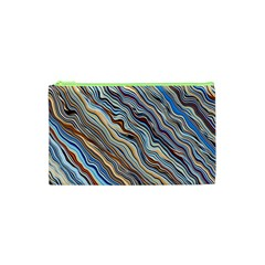 Fractal Waves Background Wallpaper Pattern Cosmetic Bag (xs)