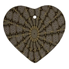 Abstract Image Showing Moiré Pattern Heart Ornament (Two Sides)