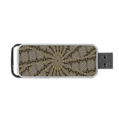 Abstract Image Showing Moiré Pattern Portable Usb Flash (one Side) by Simbadda