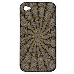 Abstract Image Showing Moiré Pattern Apple Iphone 4/4s Hardshell Case (pc+silicone) by Simbadda