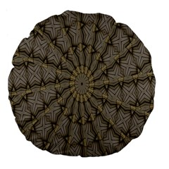 Abstract Image Showing Moiré Pattern Large 18  Premium Flano Round Cushions by Simbadda