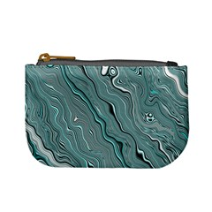 Fractal Waves Background Wallpaper Mini Coin Purses by Simbadda