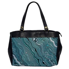 Fractal Waves Background Wallpaper Office Handbags by Simbadda