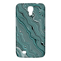 Fractal Waves Background Wallpaper Samsung Galaxy Mega 6 3  I9200 Hardshell Case by Simbadda