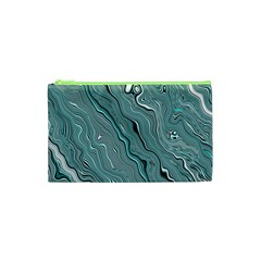 Fractal Waves Background Wallpaper Cosmetic Bag (xs)