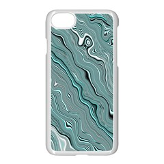 Fractal Waves Background Wallpaper Apple Iphone 7 Seamless Case (white) by Simbadda