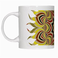 Abstract Geometric Seamless Ol Ckaleidoscope Pattern White Mugs by Simbadda