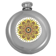 Abstract Geometric Seamless Ol Ckaleidoscope Pattern Round Hip Flask (5 Oz) by Simbadda