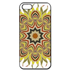 Abstract Geometric Seamless Ol Ckaleidoscope Pattern Apple Iphone 5 Seamless Case (black) by Simbadda