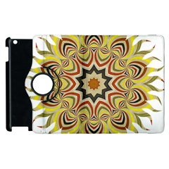 Abstract Geometric Seamless Ol Ckaleidoscope Pattern Apple Ipad 2 Flip 360 Case by Simbadda