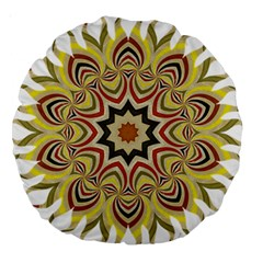 Abstract Geometric Seamless Ol Ckaleidoscope Pattern Large 18  Premium Round Cushions by Simbadda
