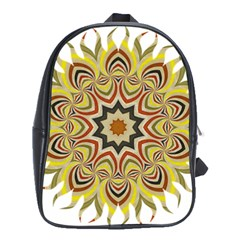 Abstract Geometric Seamless Ol Ckaleidoscope Pattern School Bags (XL)  by Simbadda