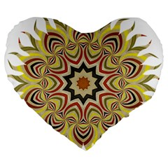Abstract Geometric Seamless Ol Ckaleidoscope Pattern Large 19  Premium Heart Shape Cushions by Simbadda