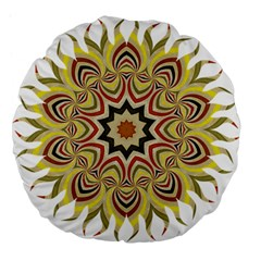 Abstract Geometric Seamless Ol Ckaleidoscope Pattern Large 18  Premium Flano Round Cushions by Simbadda