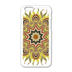 Abstract Geometric Seamless Ol Ckaleidoscope Pattern Apple Iphone 6/6s White Enamel Case by Simbadda