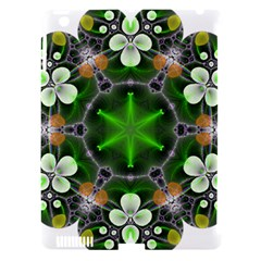 Green Flower In Kaleidoscope Apple Ipad 3/4 Hardshell Case (compatible With Smart Cover) by Simbadda