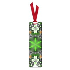 Green Flower In Kaleidoscope Small Book Marks by Simbadda