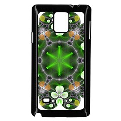Green Flower In Kaleidoscope Samsung Galaxy Note 4 Case (black)