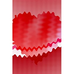 Red Fractal Wavy Heart 5 5  X 8 5  Notebooks by Simbadda