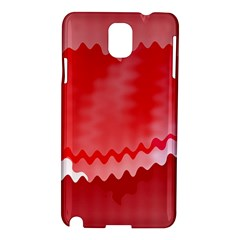 Red Fractal Wavy Heart Samsung Galaxy Note 3 N9005 Hardshell Case by Simbadda