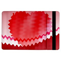 Red Fractal Wavy Heart Ipad Air Flip by Simbadda