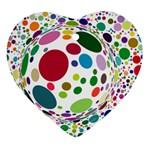 Color Ball Ornament (Heart)