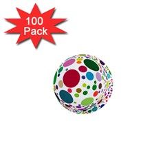 Color Ball 1  Mini Magnets (100 Pack)  by Mariart