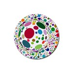 Color Ball Rubber Round Coaster (4 pack)