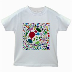 Color Ball Kids White T Shirts
