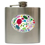 Color Ball Hip Flask (6 oz) Front