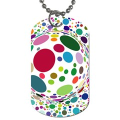 Color Ball Dog Tag (two Sides)