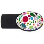 Color Ball USB Flash Drive Oval (2 GB)