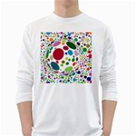 Color Ball White Long Sleeve T-Shirts Front